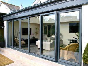 Aluminium Bi-Fold Doors Aluk